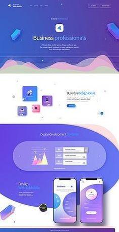Web template Website Layout, Web Layout, Flat Web Design, App Design, Website Design Inspiration, Branding, Mise En Page Web, Template Web, Web Design Websites