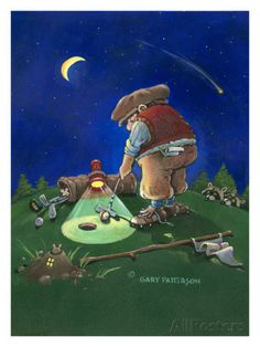 Golf Fanatic Giclee Print by Gary Patterson at AllPosters.com