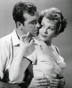 "Arlene Dahl & John Payne in "" Slightly Scarlet """
