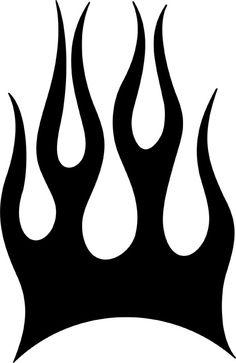 stencil flames patterns | Blaze Flame Stencil - BASIC Stencils Collection: