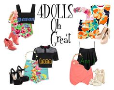 4DOLLS -Oh! Great by mikki102 on Polyvore featuring polyvore fashion style Boohoo Yves Saint Laurent Steve Madden Forever 21 1&20 Blackbirds women's clothing women's fashion women female woman misses juniors