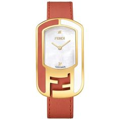 Women's Fendi Chameleon Leather Strap Watch, 29Mm X 49Mm (65.120 RUB) ❤ liked on Polyvore featuring jewelry, watches, polish jewelry, leather strap watches, logo watches, fendi watches and fendi jewelry