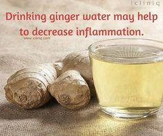 Drinking #ginger #water may help to decrease inflammation. Ask your #health queries @ http://po.st/askdoc
