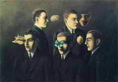 The familiar objects, by René Magritte 1928