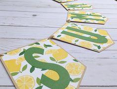 Summer Banner Lemon Banner Lemon Party Decor Lemonade
