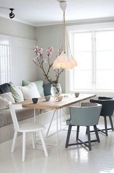 Small dining room ideas. Helpful! small dining room with mix and match furniture