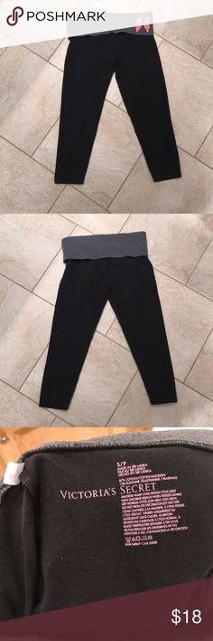 Victoria's Secret cropped yogas Fold over yoga Victoria's Secret Pants