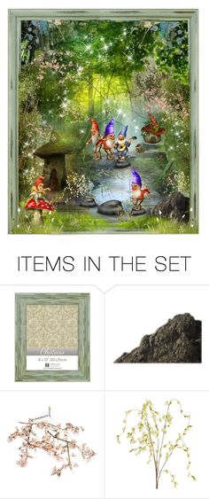 """Set 635: Gnome Garden"" by ussms1107 ❤ liked on Polyvore featuring art, contest and gnomegarden"