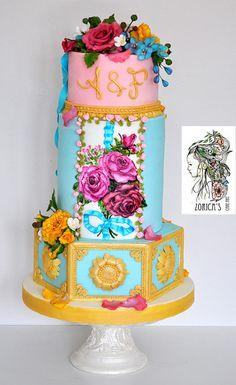 Marie Antoinette style wedding cake