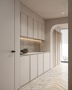 Futurist on Behance Contemporary Interior, Modern Interior Design, Interior Design Kitchen, Interior Architecture, Interior Decorating, Dream Home Design, House Design, Wood Wall Design, Cocinas Kitchen