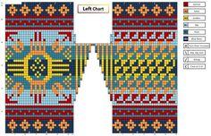 Same as the First - colorwork mitts. chart could be used in crochet Verse, Same as the First - colorwork mitts. chart could be used in crochet - Magia Koralików: Kolorowe kwiatuszki - nowy wzór na sznur szydełkowy runasady — «африканские танцы дождяp Knitted Mittens Pattern, Knit Mittens, Knitted Gloves, Motif Fair Isle, Fair Isle Pattern, Knitting Charts, Hand Knitting, Knitting Patterns, Crochet Chart