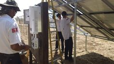 Dan (Left) Working on the Solar panels electrical connections ( Vacaville California HVAC Solano Napa Fairfield Benicia Vallejo Suisun Green Energy ) Solar Panel Installation, Solar Panels, Vacaville California, Electrical Connection, Solar Power System, Heating And Air Conditioning, Dan, Weather, Green