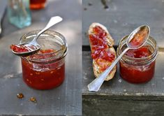 VÝPEČKY: Výsledky hledání rajčatový džem Marmalade Jam, Homemade Jelly, Tomato Jam, Matou, Hot Sauce Bottles, Brunch, Food And Drink, Fresh, Vegetables
