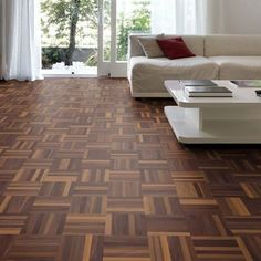Parkay Flooring, Parquet Flooring, Wooden Flooring, Flooring Ideas, 1960s House, Damier, Loft House, Wood Vinyl, Decoration