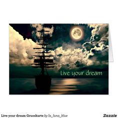 Live your dream Grusskarte