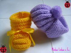 Minhas linhas e eu: Mais sapatinhos em tricot...