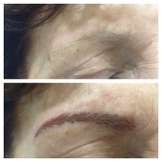 Eyebrow Hairstrokes - by Natalie #cosmetictattoo #permanentmakeup #beauty #goldcoast #salon