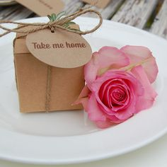Take me home kraft card wedding favour by sallycinnamonsigns, £6.99