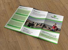 Tri-fold brochure-V30 by Template Shop on Creative Market