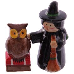Hoodoo Altar Statue Apothecary Jars - Fun Novelty Ceramic Salt and Pepper Sets (25 Styles Available!) - 13 Black Cats - 19