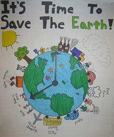 Poster on Pollution. Mother Earth Drawing, Save Earth Drawing, Drawing For Kids, Art For Kids, Poster On Pollution, Save Earth Posters, Earth Drawings, Water Poster, Poster Drawing