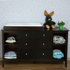 BNIB Walnut New Zealand Pine Baby Change Table 4 Chest Of Drawers U0026 Change  Pad In Baby, Furniture, Changing Tables