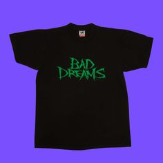 1988 Bad Dreams True Vtg T-Shirt / HORROR Movie Tee by laststoreontheleft on Etsy