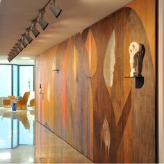 - using wood as decorative wall  - acoustics in this space probably not so great  CS