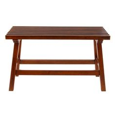 Small Teak Bench For Front Hall Now Garden Someday