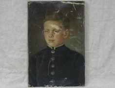 Портрет 19 века - мальчик кадет