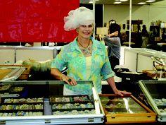 My friend, vintage jewelry dealer, Patti Wheeler, at the Scott Antique Market.