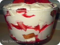 Strawberry Shortcake Trifle Recipe | Confessions of a Semi-Domesticated Mama