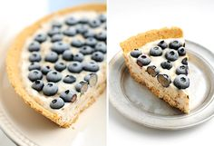 East Frozen Blueberry Coconut Yogurt Pie