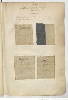 1736 // Etoffes et Grosses Toilles // de la Manufacture du Bagne de Marseille : [échantillons de tissus]