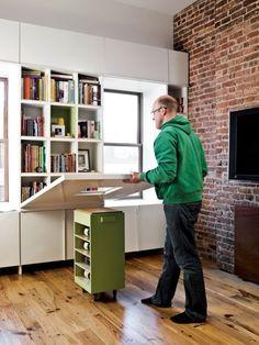 bureau pliable en bois pour mieux optimiser l'espace chez vous