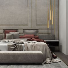 Interior design inspirations for your luxury bedroom lighting. The luxury lamp you need for you interior design project Home Decor Bedroom, Interior Design Bedroom, Bedroom Decor, Modern House Design, Bedroom Interior, Rustic Bedroom, Modern Bedroom Lighting, Modern Bedroom, Luxurious Bedrooms