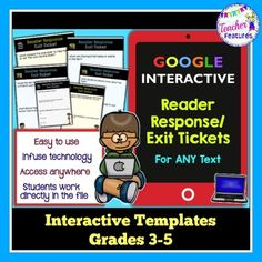 Going Paperless? Are you wanting to try out Google Classroom or add interactive lessons to your 1:1 digital classroom? Try this pack of 30 Reader Response/Exit Tickets for Grades 3-5. Reader Response is an easy, versatile answer to infusing technology into your classroom. Paperless, digital and engaging!