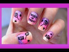 Cute Halloween Nails, Halloween Nail Designs, Cute Nail Designs, Halloween Candy, Halloween Tricks, Easy Halloween, Halloween Makeup, Fancy Nails, Cute Nails