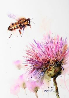 BEE and CLOVER Giclee print from Original by DeanCrouserArt