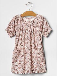 Floral pleat pocket dress - Gap Kids