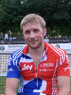 Jason Kenny OBE . Won three Olympic Gold medals, in 2008 he won team sprint gold. At London 2012 he won team and individual Gold medals. He's also won two world championship gold medals in the sprint and keiran. B 1988.
