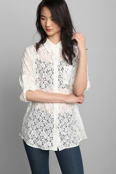 This lace blouse could be a really cute tunic too!