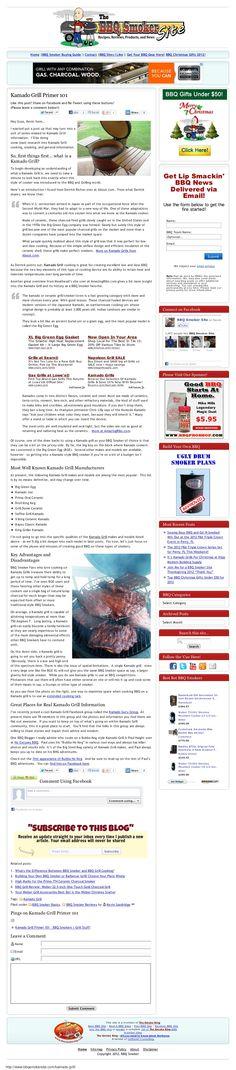 Great Kamado Grill Review... read more here: http://www.bbqsmokersite.com/kamado-grill/