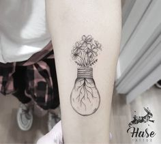 Flower lamp tattoo