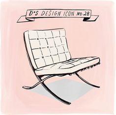 Design Icon: Barcelona Chair (illustration by Libby VanderPloeg)