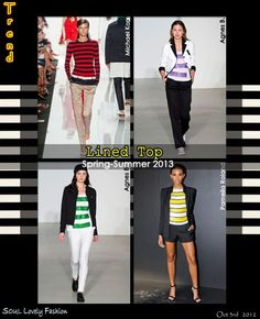Lined Top  Striped Top Trend for Spring Summer 2013.  #Striped #Fashion #Stripes   Oct 3rd 2012 11:49pm GMT.