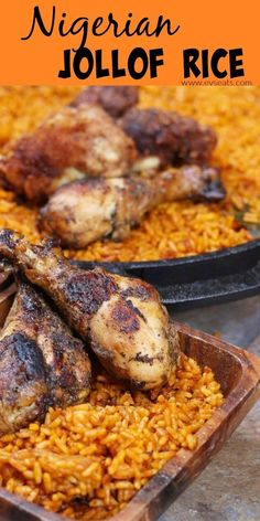How to make mouthwatering Nigerian Jollof Rice in 5 easy steps! Full of flavor, … How to make mouthwatering Nigerian Jollof Rice in 5 easy steps! Full of flavor, and a super easy and simple way to tackle Nigerian cooking. Nigeria Food, West African Food, Jamaican Recipes, Caribbean Recipes, International Recipes, Soul Food, Carne, Street Food, Food To Make