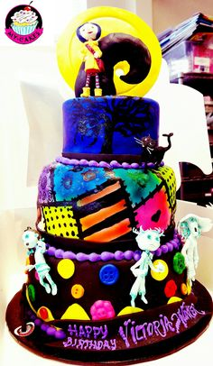 Coraline & the Belldam Kids Ghosts Themed Cake for Halloween.