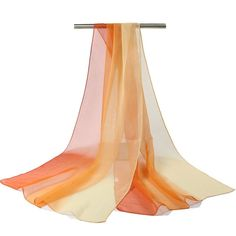 painted gradient colors georgette scarf Women Autumn and Winter long shawl silk feeling Scarves soft echarpe solid wraps 2016