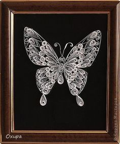 black and white paper quilling - Google Search